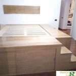 letto in legno roma