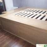 letto legno massello rovere roma