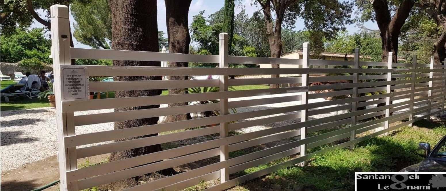 Staccionata Bianca In Legno steccati e recinzioni in legno