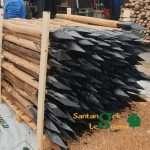 pali decorticati in castagno trattati roma con punta - paleria in castagno per recinzioni