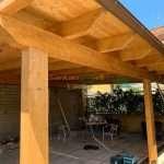 copertura in legno lamellare di abete su misura