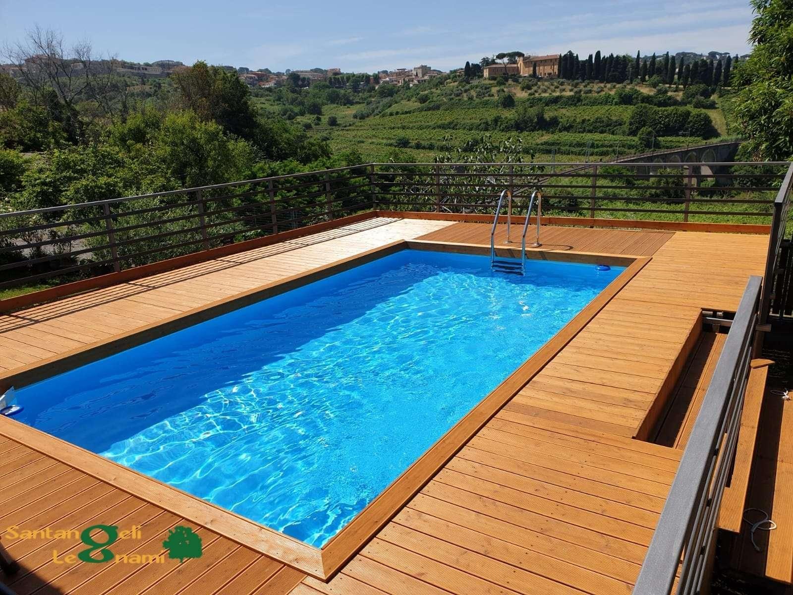 larice pavimento bordo pisicna - legnami per piscina roma