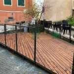 Pavimento pedana con ringhiera su misura roma